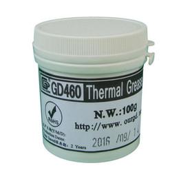 avc 12v dc fan Rabatt Großhandel-100 Gramm Silber GD460 Leitfähige Kühlkörper Gips Wärmeleitpaste Für LED CPU Kühler