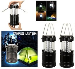 Wholesale Wall Tents - Collapsible 30 LED Lanterns Light Lamps For Emergency Camping Tent Led Lawn Garden Lamp Path Wall Light Hiking Camping Tents Light KKA3020