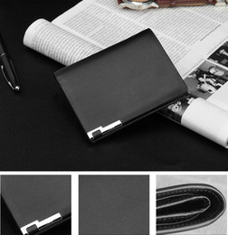 Wholesale Coffee Holder Bags - Men Leisure Iron Business Bifold Wallets Casual PU Leather Money Bag Card Holder Wallet Black Coffee A325