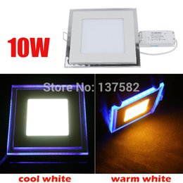Wholesale Energy Saving Spot Light - Wholesale- 2017 Hotest 10W LED Panel Ceiling Light Recessed Ceiling Spot Down Light Front Lighting + Side Lighting AC85-265V
