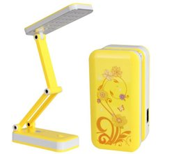 Wholesale chinese style table lamps - Sales Hot ! AC90V ~ 240V Foldable and Adjustable Built-in Battery Desk   Table Lamp with 8 or 24 LEDs On for Study, Reading