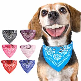 Wholesale Wholesale Personalized Towel - Dog collars adjustable pet dog cat bandana scarf pet triangle towel neckerchief pet saliva towel 4 colors in stock