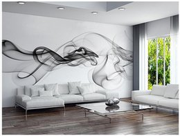 Wholesale Paper Tv - Custom 3D photo wallpaper Smoke clouds abstract artistic wall paper modern minimalist bedroom sofa TV wall mural paper painting