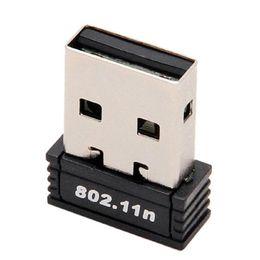 Wholesale usb ap - Wholesale- 1PC Free shipping Nano Wireless Network Adapter Mini USB LAN Dongle Portable wifi receiver & transmitter Soft AP 150Mbps