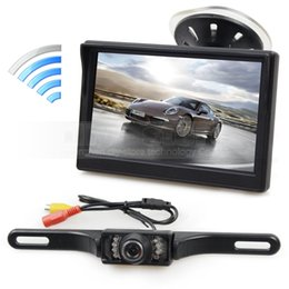 Wholesale Rear View Safety Camera - Wireless 5inch LCD Display Rear View Monitor Car Monitor IR Night Vision Rear View Car Camera Reversing Safety System