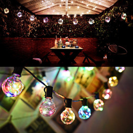 Wholesale Led Curtain Decor For Wedding - G40 Christmas Lights Globe String Light 25LED Bulb Outdoor Decorative Copper Wire String Lights for Garden, Patios, Home Decor, Wedding