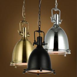 Wholesale Bronze Pendant Lamp - lamp loft light illuminate your kitchen or workplace vintage lighting fixture industry style bronze chrome color fixture