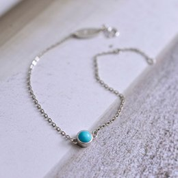 Wholesale Turquoise Bead Strand Necklace - 2017 Fashion Jewelry Turquoise Beads Bracelets S925 Sterling Silver Natural Stone Bracelet Pendants Necklaces Best Gift FN305