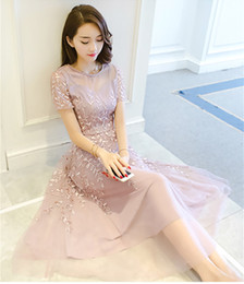 Wholesale Korean Ladies Long Skirts - Skirt female summer 2017 new female Korean elegant elegant ladies heavy industry yarn embroidery lace dress in the long section