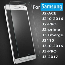 Wholesale Glass For Galaxy S4 - Tempered Glass For Samsung Galaxy J3 J5 J7 2017 C7 C5 Pro S7 S6 S5 S4 Mini Screen Protector 9H Hardness Anti Scratch