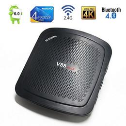 Wholesale Mini Hdmi Port - Rockchip RK3229 Quad core Android TV Box V88 Mini II 2GB 8GB support 4USB Ports Bluetooth 4.0 3D movie 2.4G WiFi Media Player