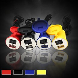 Wholesale 12v Motorcycle Power - Wholesale- Waterproof 12V To 5V 1.5A Motorcycle Smart Phone GPS USB Charger Power Adapter