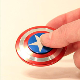 Wholesale Fingers Toys - Creative Captain America Shield Hand Spinner Iron Man Fidget Alloy Puzzle Toys EDC Autism ADHD Finger Gyro Toy Adult Gifts