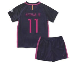 Wholesale Children S Brands Winter - Hot Sale A+++++Top quality kids soccer jerseys 16-17 New football clothes for children sets kids futebol clothing