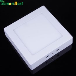 Wholesale Living Room Led Light Illumination - Wholesale- Super Fashion 9W 15W 21W Square LED Surface Mounted Ceiling Light SMD 2835 Panel Light For Living Room kitchen Room illumination
