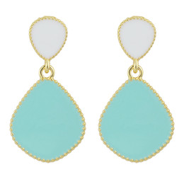 Wholesale Tins For Candy - Brincos De Festa Candy Color Enamel Gold Color Alloy Ethic Dangle Earrings New Fashion Jewelry for Women