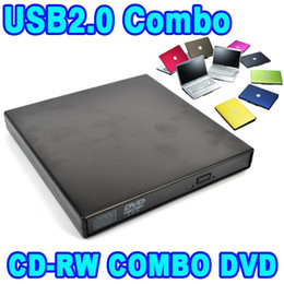 Wholesale High Quality Cds - Wholesale- High Quality USB 2.0 Optical Drive CD-RW Rewrite Burner Recorder Mobile DVD ROM Reader Combo for Tablets Computer PC Laptop