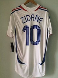 Wholesale Italy World Cup Jerseys - 2006 world cup final Zidane jerseys Retor jerseys Zidane final match vs italy classic shirt Henry Ribery Vieira Makelele Abidal rugby jersey