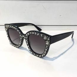 Gafas de marco rectangular online-0116 Gafas de sol de lujo para mujer Diseñador de la marca Cat Eyes Gafas Estilo de verano Rectángulo Marco completo Calidad superior Protección UV Viene con estuche