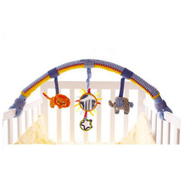 Wholesale Travel Arch - Wholesale- Baby Hanging Doll Stroller Baby Toys Educational Mobile Toys For Kids Cot Beds Rattle Travel Arch Stroller Car Toys-BYC144 PT49