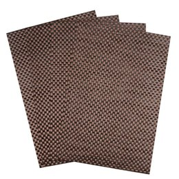 Wholesale Linen Coasters Wholesale - Wholesale- 2015 Set of 4 PVC Cross weave Placemats for Dining Table Runner Linens place mat in Kitchen Accessories Cup Wine mat coaster pad