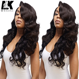 Wholesale Natural Yaki Body Wave Wig - Human Hair Lace Front Wigs Black Women 8A Body Wave Glueless Full Lace Wigs Baby Hair Brazilian Virgin Human Hair Full Lace Wig