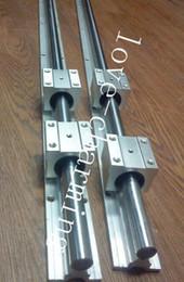 Wholesale Shaft Block Bearing - 2 sets SBR12-550mm 12mm FULLY SUPPORTED LINEAR RAIL SHAFT & 4pcs SBR12UU BEARING BLOCKS