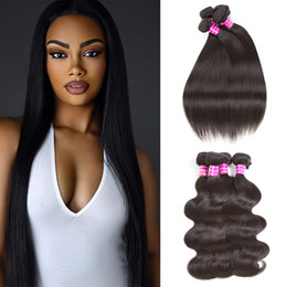 Canada Peruvian Straight Vierge de cheveux humains Bundles Bundles Brazilian Body Wave Vague Extensions de cheveux Malaysian Indian Cambodian Mongolian Human Hair Bundle human hair extensions weaves promotion Offre
