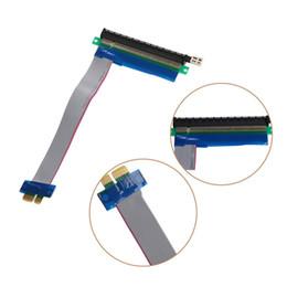 Argentina Al por mayor-PCIe PCI Express 1x a 16x Extender Riser FFC PCI-E 1x-16x Piezas de componentes de computadora de cable plano flexible a estrenar supplier pci express extender flexible Suministro