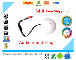 Wholesale Golf Security - Lucker Security Golf Shape audio listening devices CCTV Microphone audio Pickup Device High Sensitivity 12V DC sound Monitor