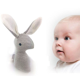 Wholesale Toys For Baby Crib - Wholesale- 2017 New Rattle Baby Toys For Children Infant Bb Sound Toys For Crib Kawaii Rabbit Baby Toy Hearing Grip Strength Training Tools