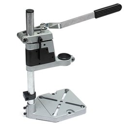 Wholesale Drill Press Drilling - Dremel Electric Drill Stand Double Clamp Base Frame Drill Holder Power Rotary Tools Accessories Bench Drill Press Stand DIY Tool