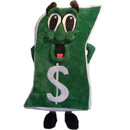 Trajes de personagens on-line-Adorável Novo Dinheiro Mascot Costume Para Festival / Hallooween / Natal Adulto Tamanho Trajes de Dinheiro Personagem para o Vestido Extravagante Festa Roupas