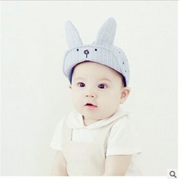 Wholesale Han Edition Rabbit - Han edition new children in spring and summer sun hat baby baby duck tongue rabbit ear cotton cloth cap