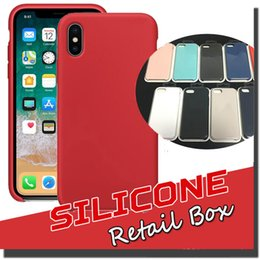 Wholesale Iphone Silicone Case Shell - For iPhone X Silicone Case Slim Ultra Thin Soft Rubber Solid back Cover Protective Soft Shell For iPhone X 8 Plus 7 6 6S With Retail Package