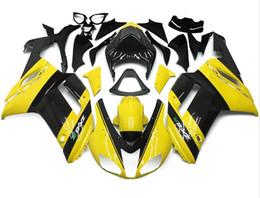 Wholesale Yellow Zx6r Fairing - Free Windscreen New Motorcycle ABS Fairing Kits Fit For kawasaki Ninja 07 08 ZX6R 636 2007 2008 ZX-6R fairings bodywork set yellow black
