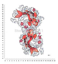 Wholesale Designs Tattoo Body Painting - attoo Body Art Temporary Tattoos 3pcs large big fish totem designs Temporary tattoos stickers Waterproof body paint fake tattoo new 2017 ...