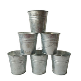 Wholesale Planter Box Plants - D8*H8CM Free Shipping Wholesale Pure Meat plant pot tin box flower pots planters Balcony Small Nursery pot