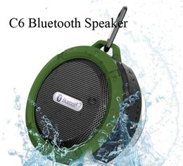 Wholesale Altavoz Usb - Portable Waterproof Outdoor Wireless Car Bluetooth Speaker C6 bluetooth altavoz Speaker Hook And Suction Cup Stereo Music Audio Player