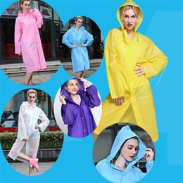 Wholesale Waterproof Hooded Poncho - New Easy Carried Rain Coat Wind Coat EVA Women's Hooded Raincoat Waterproof Transparent Poncho Hiking B0487