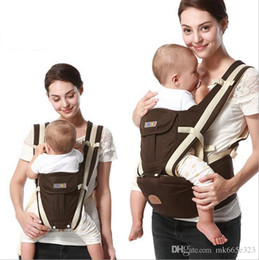 Wholesale Toddler Front Carrier - 2017 Child Ergonomic backpack Baby Carrier Multifunction Breathable Infant Carrier Backpacks Carriage Toddler Sling Wrap Suspenders + Seat