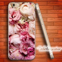 Iphone 5c cover pink en Ligne-Fundas Rose Fleur de pivoine Soft Clear Case TPU pour iPhone 7 6 6S Plus 5S SE 5 5C 4S 4 Case Silicone Cover.