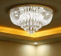 Wholesale Stainless Steel Art Design - 2017 new luxury design modern crystal chandelier LED ceiling fixtures Diameter 80cm lustres living room lighting MYY