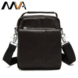 Wholesale Shoulder Handbag Casual Male Bags - Wholesale- Genuine Leather Men Bags Man's Crossbody Shoulder Bag Men Small Handbag High Quality Leather Male Bag Man Small Messenger 8806