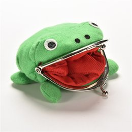 Wholesale Frog Wallets - Wholesale- 2016 New Arrival Frog Wallet Anime Cartoon Wallet Coin Purse Manga Flannel Wallet Cute purse Naruto Coin holder