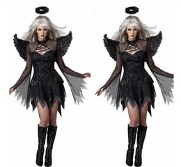 Wholesale Plus Size Female Halloween Costumes - Women's Sexy Witch Costumes Plus-Size Vampire Halloween Cosplay Costume with Wing & Headwear & G-string T-back Set