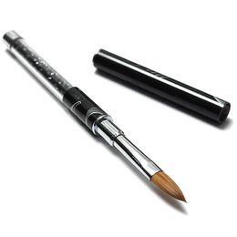 Wholesale Best Nail Art Brushes - Wholesale- Best Sale Nail Art Acrylic Crystal Nail Polish Gel Nail Brush Pen black Blue Red Orange