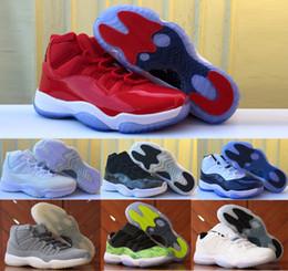 new style a251f 758a7 2017 retro 11 zapatos de baloncesto de las mujeres de los hombres 11s XI  baja negro azul real de la fruta cítrica la concordia creó las zapatillas  de ...