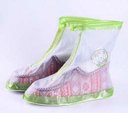 Wholesale Waterproof Slip Shoe Covers - Non-slip Wearable waterproof Female shoe cover Fashion thickening Waterproof Creative outdoor travel green yellow rain shoe cover wholesale