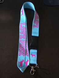 Wholesale Lanyard Neck Chains - DHL free VS LOVE PINK Style Phone Lanyard Key Chain Neck Strap lanyard Wholesale work ID card lanyard